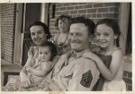 US Army !st SGT with Family, 1942
