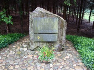 Forest monument to a young pole executed in Illmensee, 1941